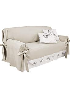 BIANCHERIAWEB Copridivano con Laccetti Disegno Grancasa Modello O.B. on chaise sofa sleeper, chaise furniture, chaise recliner chair,