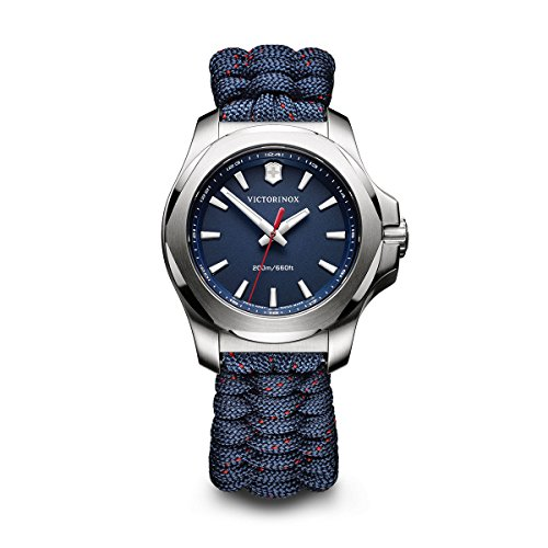 Victorinox Women's 'I.N.O.X' Swiss Quartz Stainless Steel and Nylon Casual Watch, Color:Blue (Model: 241770)