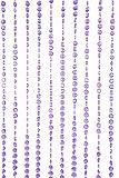 ShopWildThings Beaded Curtain Diamonds Purple Iridescent Acrylic For Sale