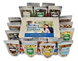 vegan dehydrated food - Harmony House Foods, Trail Ready Gourmet Soup & Chili Pack, 18 Zip Pouches