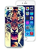 iPhone 6 Case,Tiger Roar Cross Hipster Quote Design White Case for iPhone 6S 4.7 Inches,TPU Cover