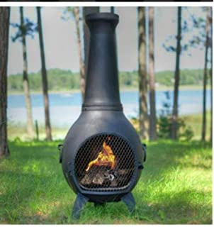 Amazon.com : Natural Gas Chiminea - Blue Rooster ALCH027GK-NG ...