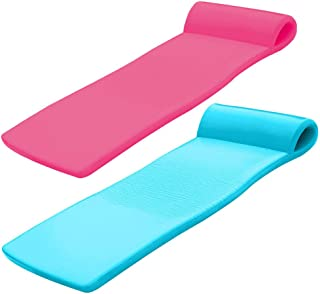 product image for TRC Recreation Super Soft Sunsation Pool Lounger Mat, Pink and Tropical Teal