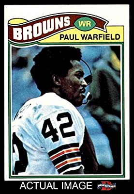 1977 Topps # 185 Paul Warfield Cleveland Browns-FB (Football Card) Dean's Cards 8 - NM/MT Browns-FB