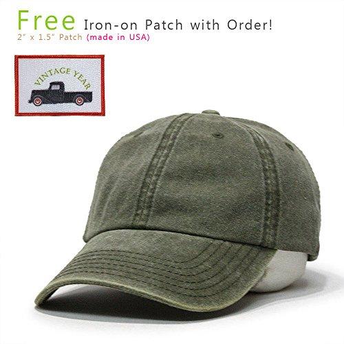 Vintage Washed Cotton Adjustable Dad Hat Baseball Cap (Dark Olive Green  Truck) - Buy Online in UAE.  ad9e7fe15ea7