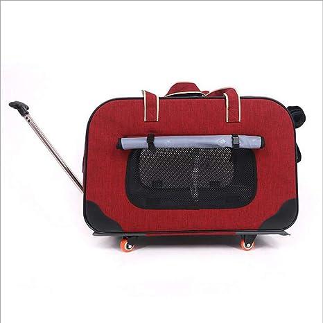 MOIMK Trasportín Plegable con Ruedas para Mascotas con Cómodo, Senderismo, Campin, Diseñado para