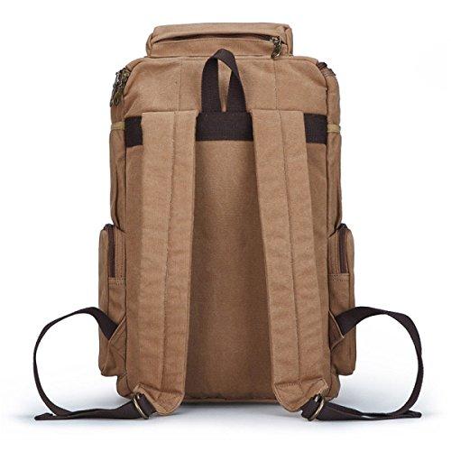 Großer Rucksack Für Herren Im Freien Student Canvas Rucksack 20-35L Wanderrucksack Camping Und Wandern D LbrpJzoZgd