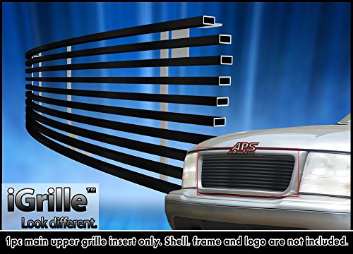 Gmc Sonoma Billet Grille - Black Stainless Steel eGrille Billet Grille Grill For 1998-2003 GMC Jimmy/S-15 Pickup/Sonoma