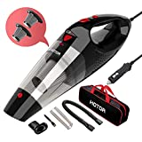 HOTOR Corded Car Vacuum, DC 12V Car Vacuum Cleaner High Power, Potable Handheld
