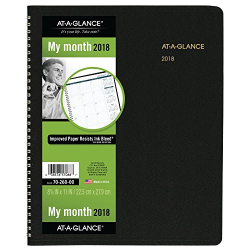 """2018 AT-A-GLANCE Monthly Planner, 15 Months, January Start, 8 7/8"""" x 11"""", Assorted Colors (W7026000)"""