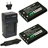 Wasabi Power Battery and Charger Kit for Pentax D-LI78, D-L178, Optio L50, M50, M60, S1, V20, W60, W80