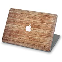 ZIZZDess Macbook Wood Case For Macbook Pro 15 Case 2016 2017 Brown Full Hard Cover for Notebook New Apple Mac Pro 15 Inch Model A1707 with Touch Bar (Light Wood)
