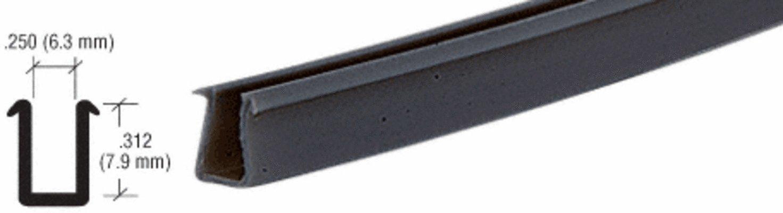 CRL Flat Black Semi-Rigid Showcase Vinyl for 1/4'' Glass - 12 ft long