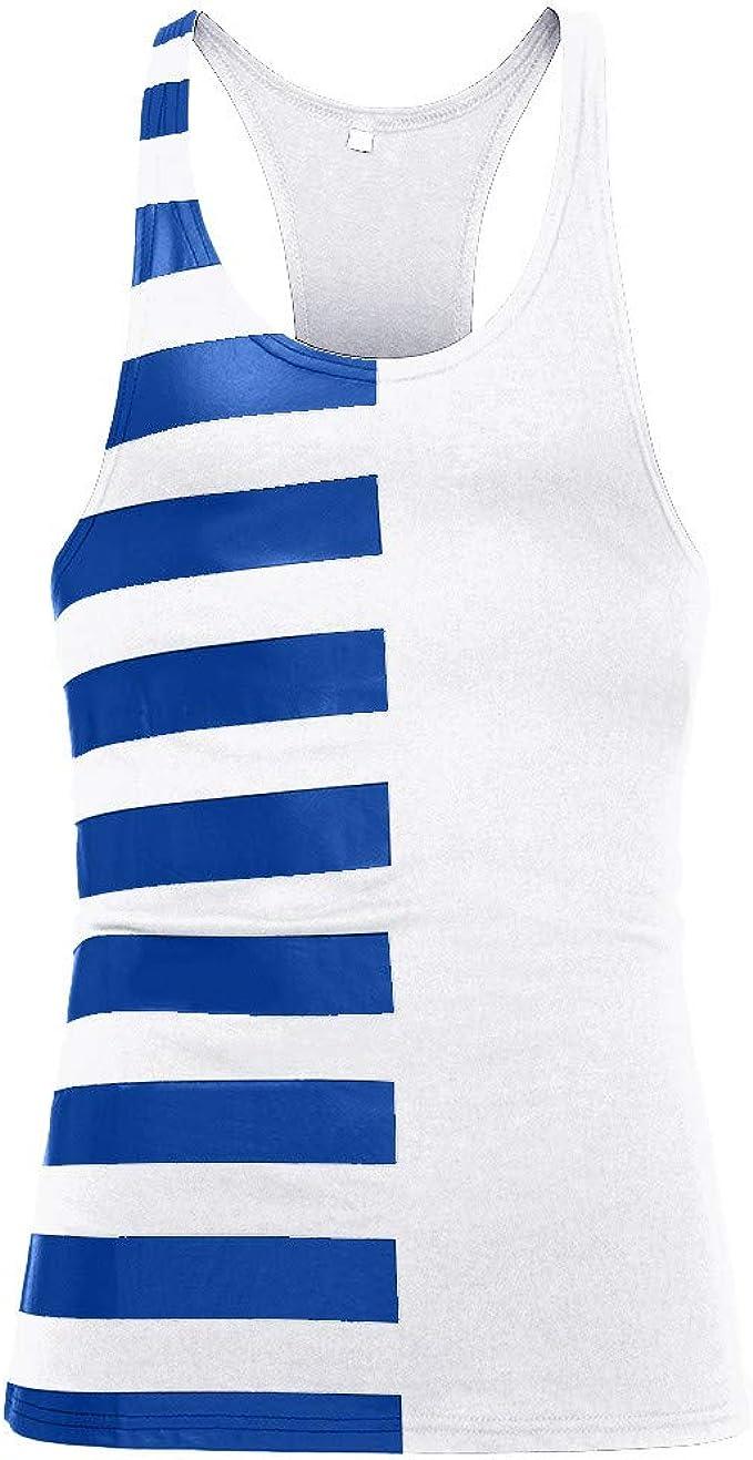 Qisc/_Mens T-shirt 3 Pack 100/% Cotton Bodybuilding Stringer Gym Tank Top Singlet Racerback
