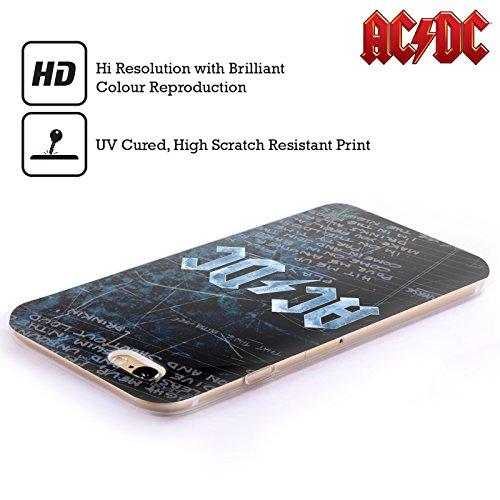 Officiel AC/DC ACDC Paroles Logo Étui Coque en Gel molle pour Apple iPhone 4 / 4S