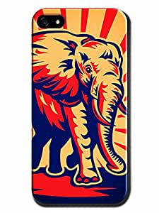 Cityshop Durable Radiant Elephant Hard Protective Case Fit for Iphone 5/5s