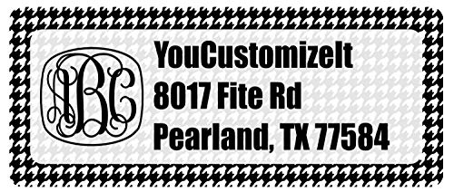 Houndstooth Return Address Label (Personalized)