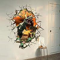Etiqueta de la pared del dinosaurio 3D DIY extraíble Kids Room Decor Nursery Home Decal Sticker