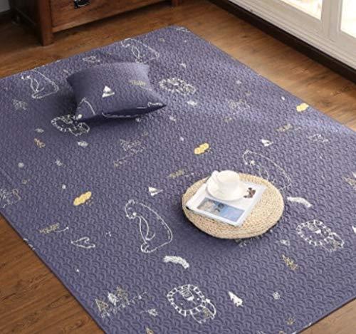 No1 YOOMAT Cotton Carpet Kids Room Yoga Mat Muti Taille Cartoon Design 4 Styles Rug for Living Room Window 120 x 210 cm
