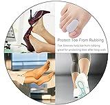 Povihome Toe Spacers Straightener Orthotics, Gel