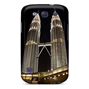 RogerKing Design High Quality Petronas Towers Night View Cover Case With Excellent Style For Galaxy S3