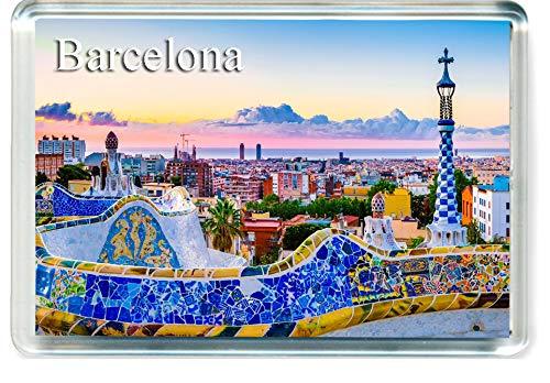 GIFTSTICY H236 Barcelona Imán para Nevera Spain Travel Fridge ...