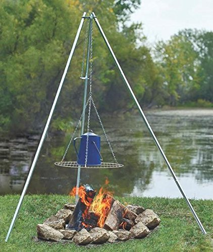 New Coghlan`s 9340 Adjustable Height Galvanized Camp Fire Cooking Tripod 2757870""