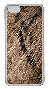 Customized iphone 5C PC Transparent Case - Wheat Field Background Personalized Cover