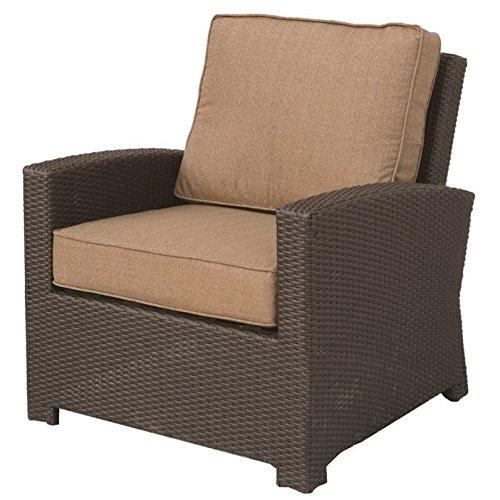 Darlee Vienna Wicker Outdoor Club Chair in Espresso (Set of 2) -