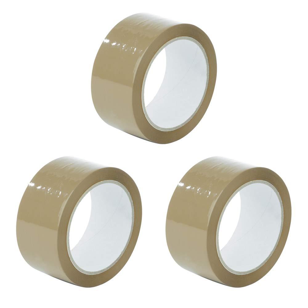 marrone per pacchi e scatole 48 mm x 91 m Nastro adesivo da imballaggio