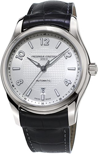 Frederique Constant Men's 'RunAbout' Swiss Automatic Stainless Steel and Leather Dress Watch, Color:Black (Model: FC-303RMS6B6) -