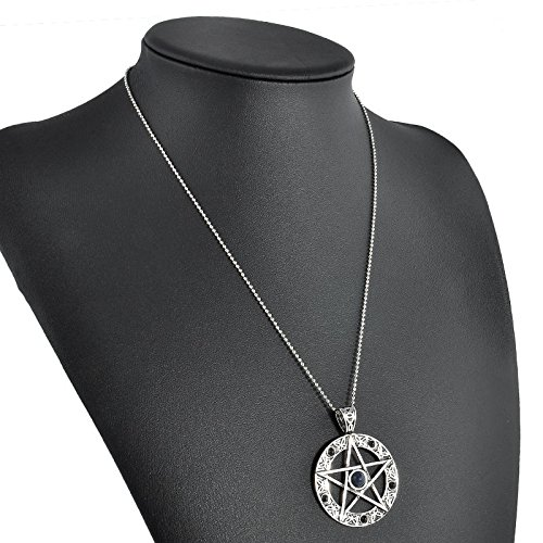 (ERAWAN Vintage Silver Celtic Knot Trinity Pewter Pendant Necklace with cord Jewelry EW sakcharn (#4))