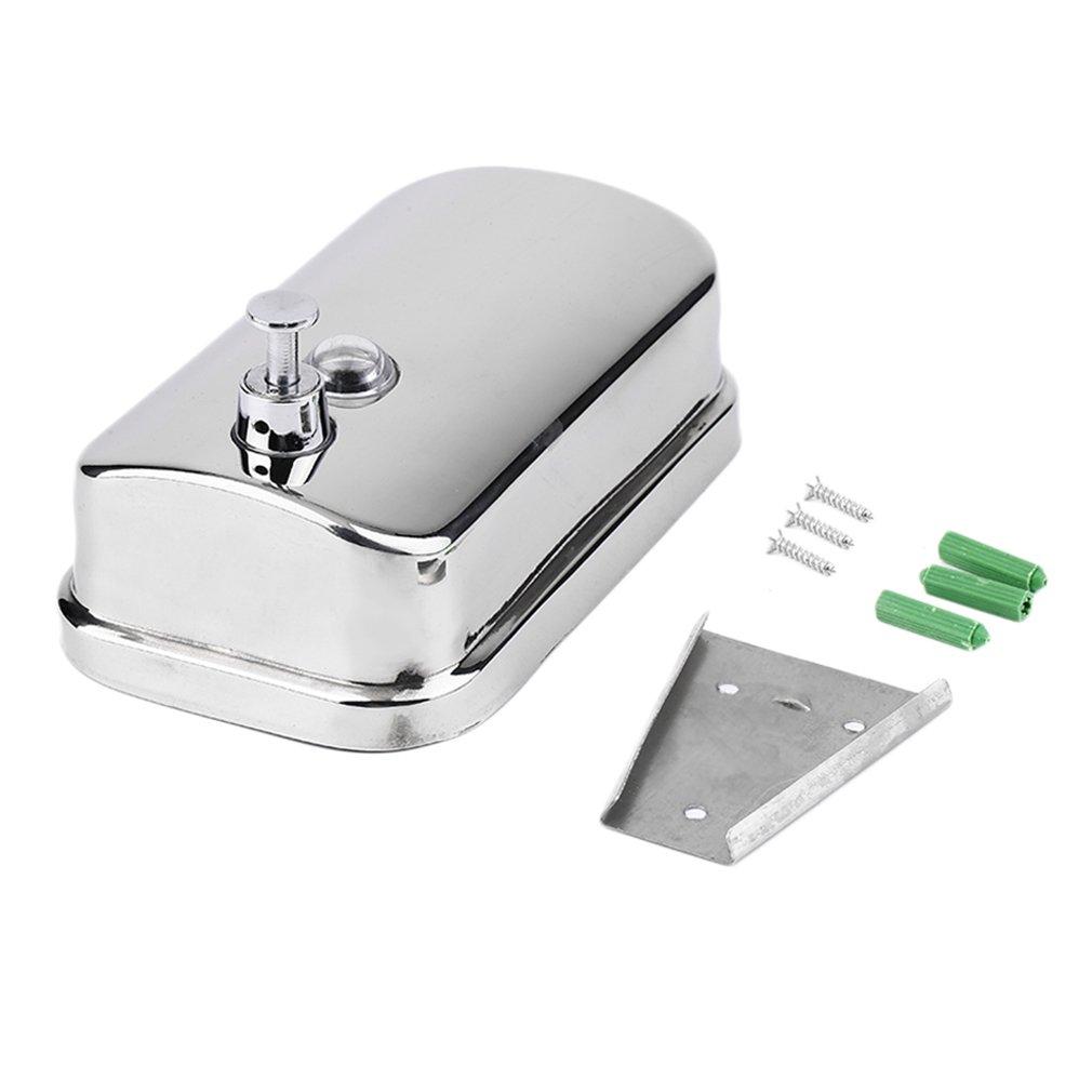 YCDC 500ml 500/800/1000ML Kitchen Bathroom Wall Mounted Stainless Steel Shampoo Dispenser