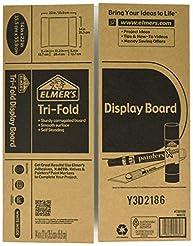 Elmer's Tri-Fold Display Board, White, 1...