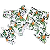 PatPat Mommy and Me Swimsuit One Piece Pineapple Printed Family Matching Swimwear Boys: 3 Years Green