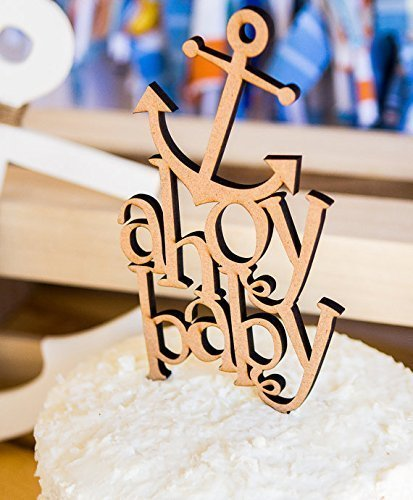 Amazon Baby Shower Cake Topper Ahoy Baby Nautical Themed