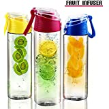 Water Bottle Infuser, Fruit Infuser and Number 1 Sport Infuser from USA-SuperBuy: Rehydrate Your Body with Sparkling Cold Naturally Fresh Juicy Experience Now for Sports, Diets, Exercise...