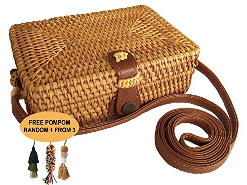 Straw Rattan Crossbody Wicker Summer product image