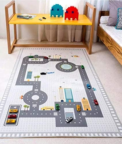 New Baby Kids Cotton Room Car Road Trip Adventure Play Game Mat Carpet Floor Rug