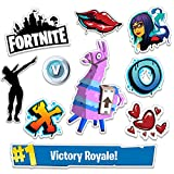 Fortnite Battle Royale Stickers | Set of 10 Indoor/Outdoor Video Game Decals | Up to 6'' | #1 Victory Royale, Llama, Dab Emote, V Bucks, Shadow Ops, Graffiti