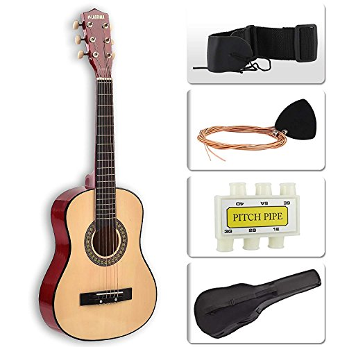 "LAGRIMA 30"" Acoustic Guitar with Guitar Case, Strap, Tuner & Pick 6 Steel Strings For Beginners Brown by LAGRIMA"
