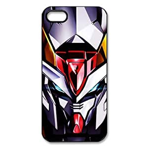 CTSLR Anime Gundam Protective Hard Case Cover Skin for Apple iPhone 5/5s- 1 Pack - Black/White - 1