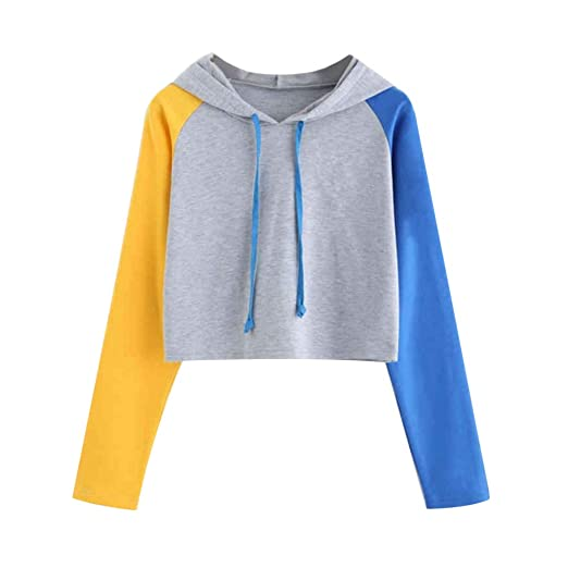 dbb14b145622 Amazon.com: Topbeu Women Hooded Sweatshirt Tops Drawstring Hoodies ...