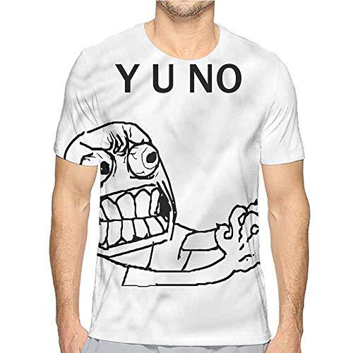 t Shirt for Men Humor,Hipster Mascot Meme Custom t Shirt S ()