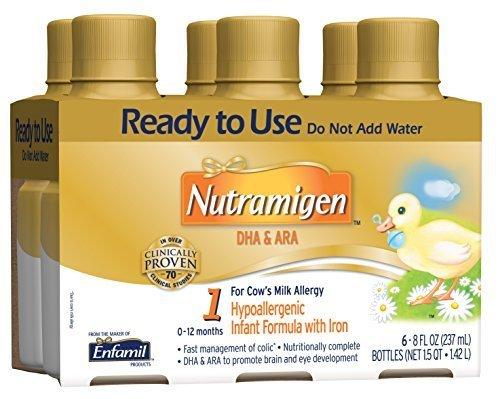 Nutramigen Baby Formula - 8 fl oz Plastic Bottles, 6 Count by Nutramigen by Nutramigen