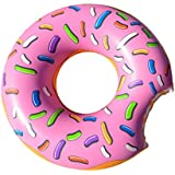 Cooluli Gigantic Strawberry Frosted Donut Pool Float- Fun for All Ages, 51-Inches