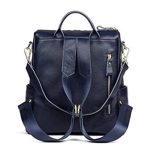 HMILY Casual Blue Backpacks Purse Leather Satchel Functional Women Multi Black Shoulder Bag qwYtYxPXrn