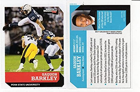 finest selection a4bc7 5b0b5 Saquon Barkley S.I.Kids Pre-Rookie College Football Card ...