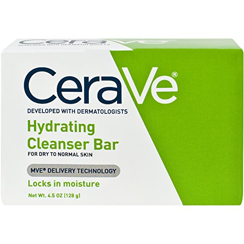 [CeraVe Facial Cleanser, Hydrating Cleansing Bar, 4.5 Ounce] (Facial Soap Bar)