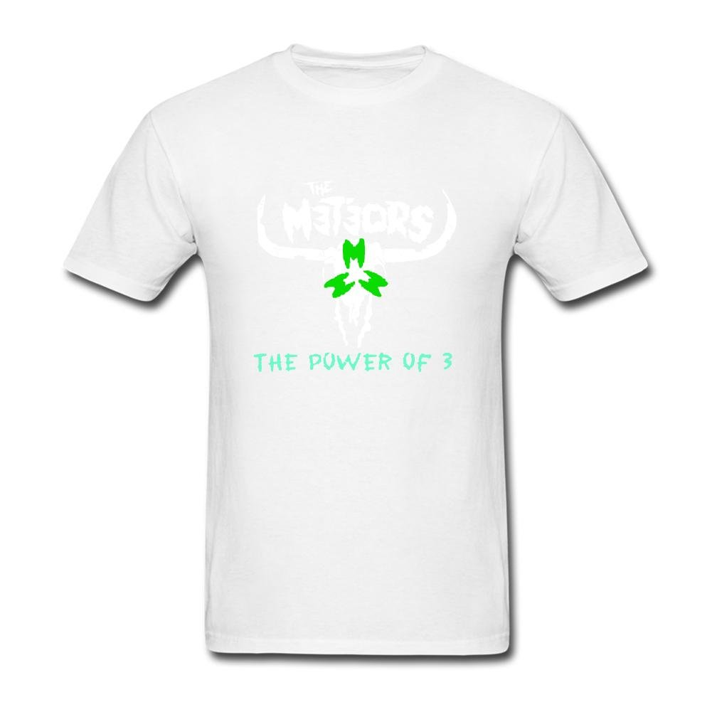 Amazon Mens The Meteors The Power Of 3 Short Sleeves T Shirt